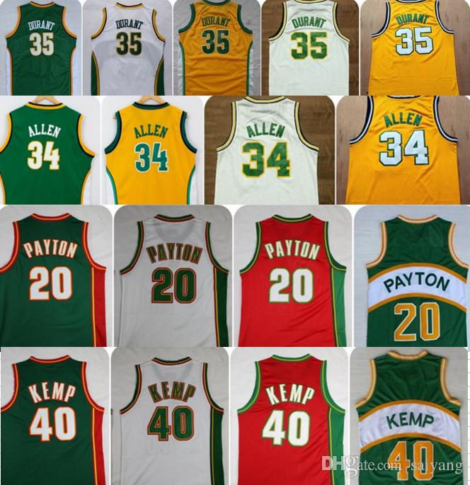 797c26bc1 ... australia 2019 throwback 35 kevin durant seattle supersonics basketball  jerseys retro the glove 20 gary payton