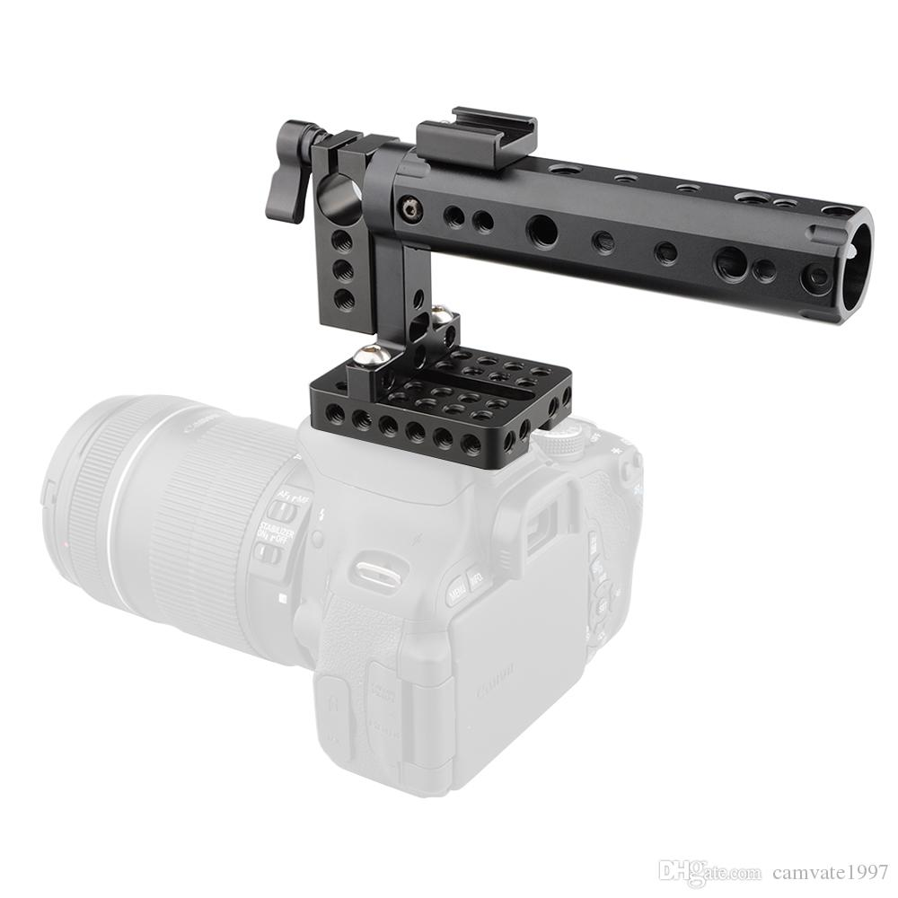 CAMVATE Camera DSLR Top Handle Rig w/Plate Rod Clamp Cold Shoe fr Canon Nikon Panasonnic