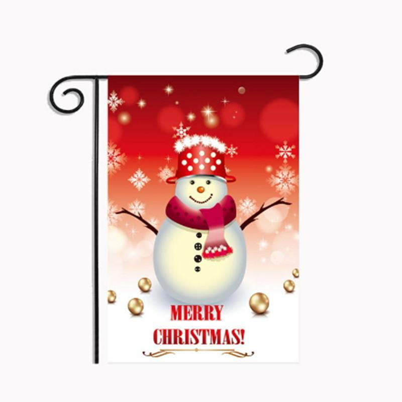 Snowman Christmas Flags Polyester Decoration Reindeer Indoor Garden Santa  Claus Tree Snowflake Party Home Decor Banner Ornament UK 2019 From  Glass smoke fe095120b6eb