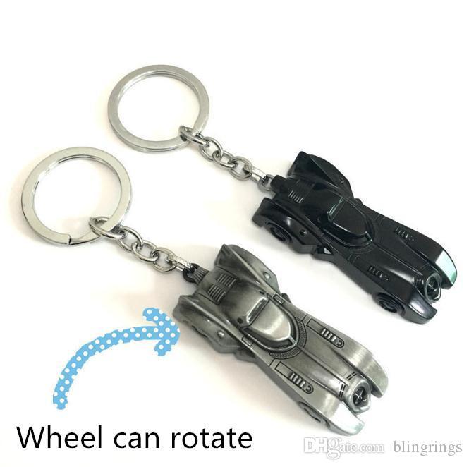 The Dark Knight Batman Car Keychain Batmobile Man V Superman Alloy Pendant Toy Keyring Bat Man Key Chain Ring