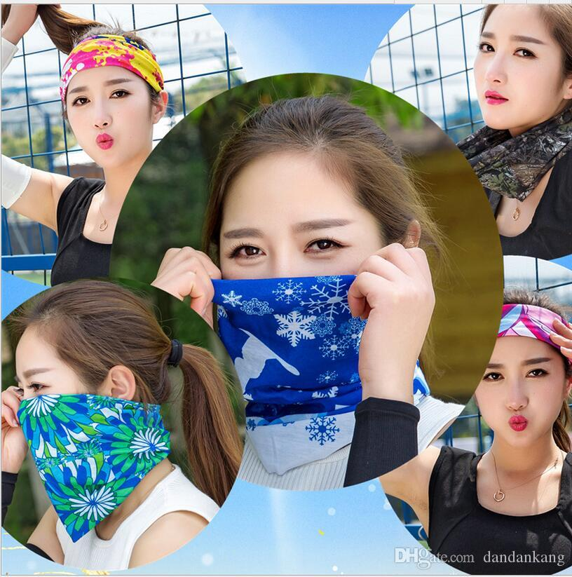 Multifunctional scarf Headband Outdoor Sports Turban Sunscreen Magic Scarves Veil Cycling Seamless bandanas yoga hair band bicycle scarf cap