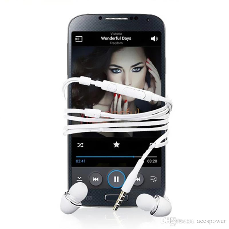 MIC ile Kulaklık Samsung Galaxy S7 S6 S4 J5 N7100 Kulaklık Kulak PVC Cep Telefonu Handsfree Mikrofon Hiçbir Paket