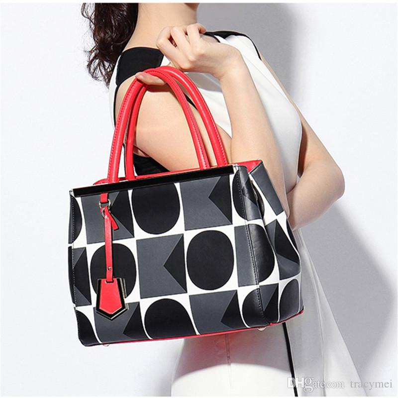 2017 New Ladies Luxury Leather Handbag Tote Shoulder Bags Women Messenger Bags Handbag Purses Frame Bolsa