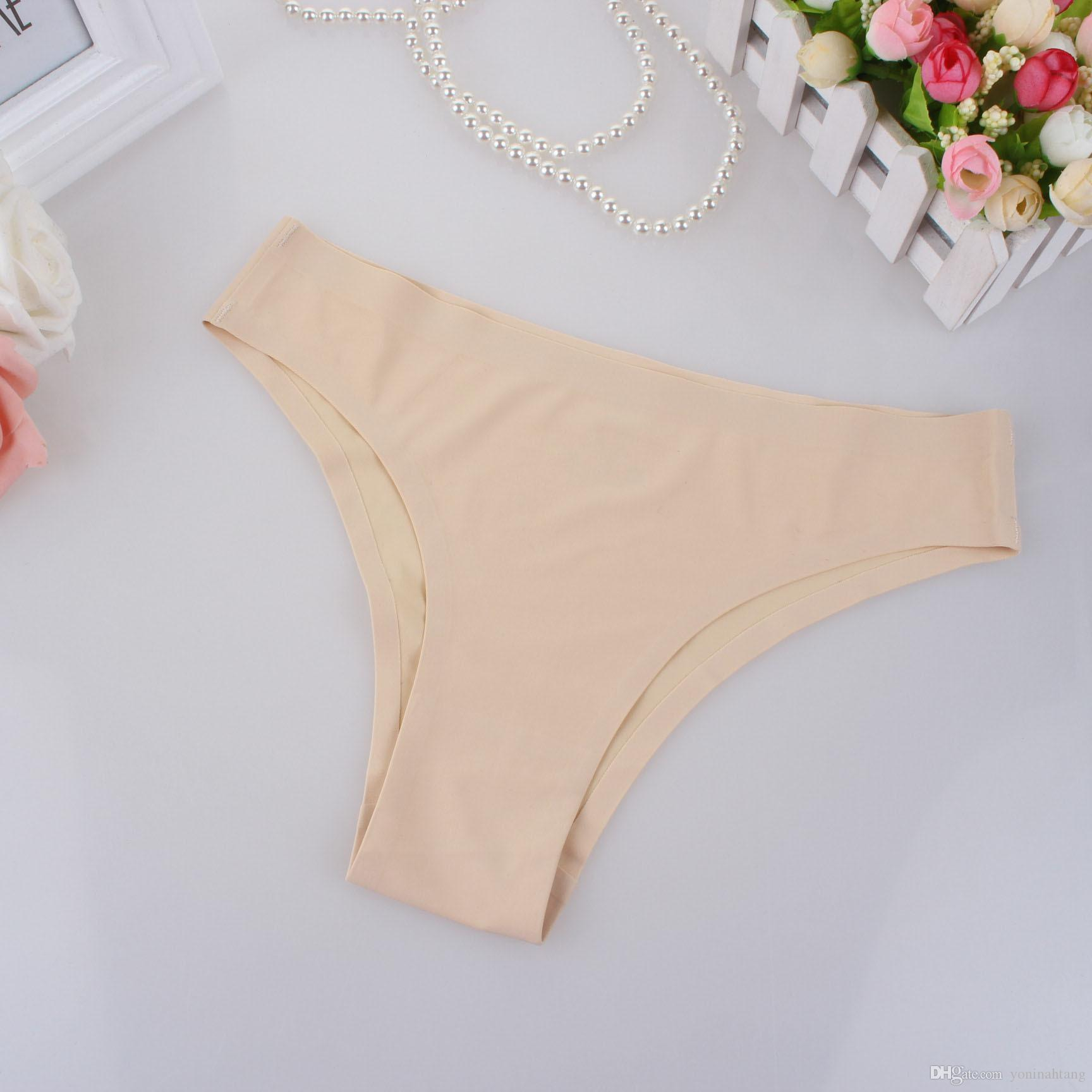 Wholesale free shippgin Women Invisible Underwear Briefs Cotton Mixed color size M-XL Spandex Gas Seamless Crotch Panties Hot