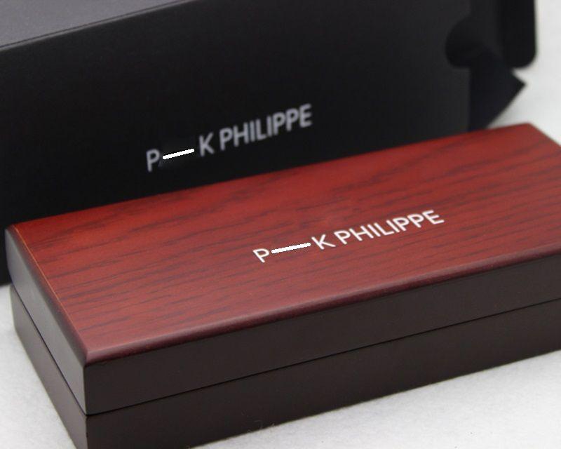 El metal de plata Pluma de lujo a cuadros Bolígrafo proveedor de escritura de lujo Escuela de Negocios de la oficina con la caja de madera roja