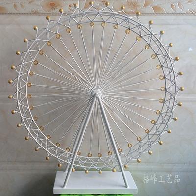 Large Size Za Kka Vintage Iron Ferris Wheel Home Accessories Fashion ...