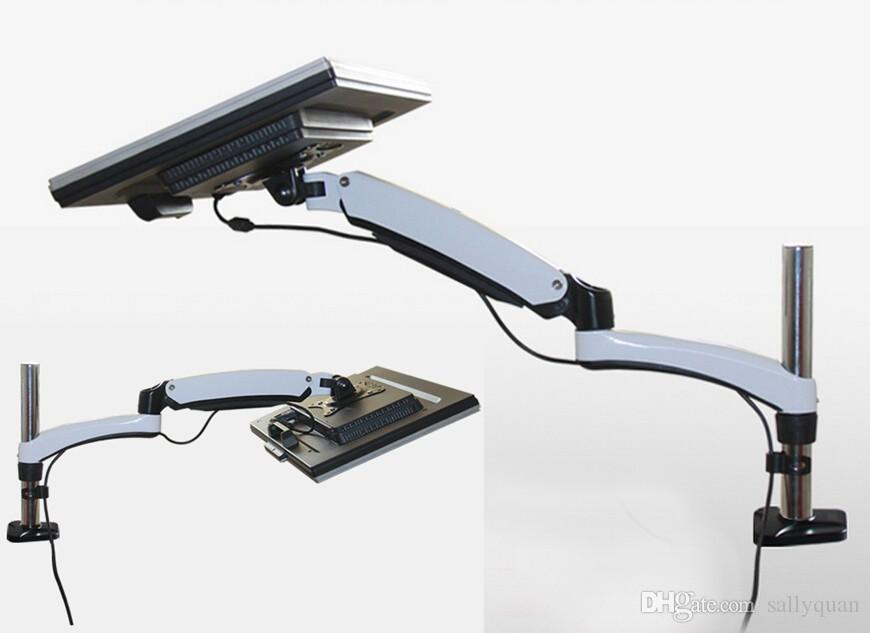 Двойной монитор компьютера стоит вверх и вниз емкости загрузки держателя 8кг стойки настольного компьютера монитора кронштейна весны газа 13-27 дюймов