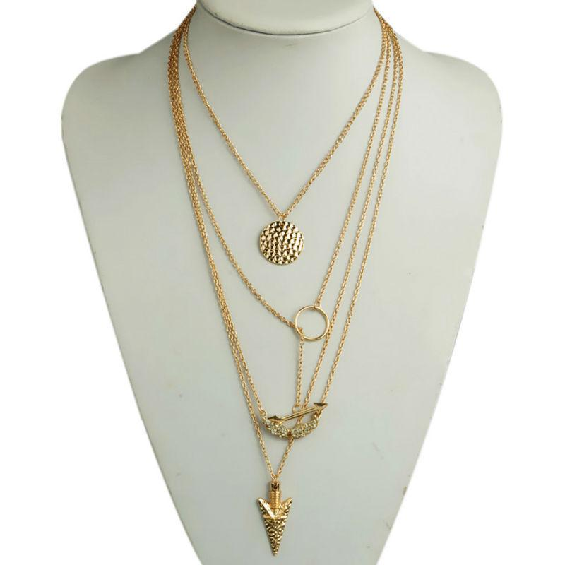 Wholesale Wholesale Fashion Jewelry Simple Gold Necklace ...