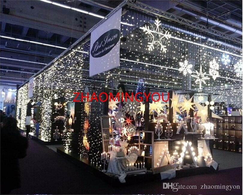 Luzes de natal YON decoração ao ar livre 3.5 m droop 0.3-0.5 m led cortina icicle string luzes festa de casamento ano novo garland luz