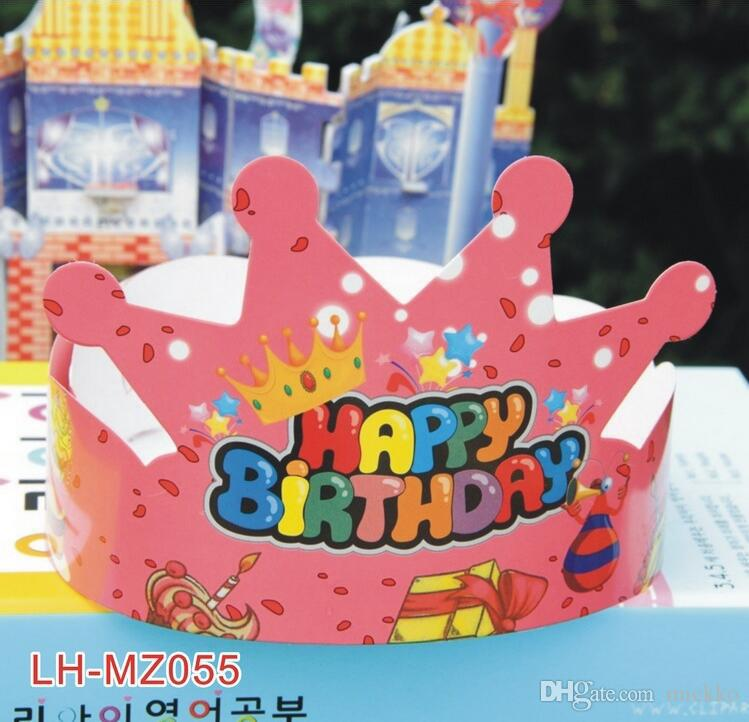 Fashion Crown Design Birthday Hat Headwear Opp Bag Package Party Caps Decoration Princess Prince Cap