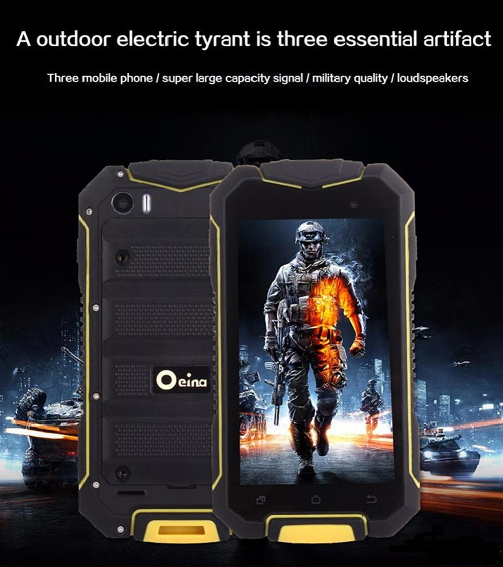 Original Oeina XP7700 Phone With MTK6580M Quad Core Android 5.0 3G WiFi 4.5 Inch IP67 Real Waterproof Dustproof Shockproof Phone tnt post