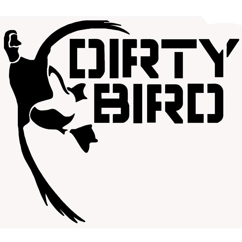 Dirty bird waterbirds duck hunting funny car sticker for truck suv window bumper door laptop kayak car cover vinyl decal jdm car sticker vinyl sticker car
