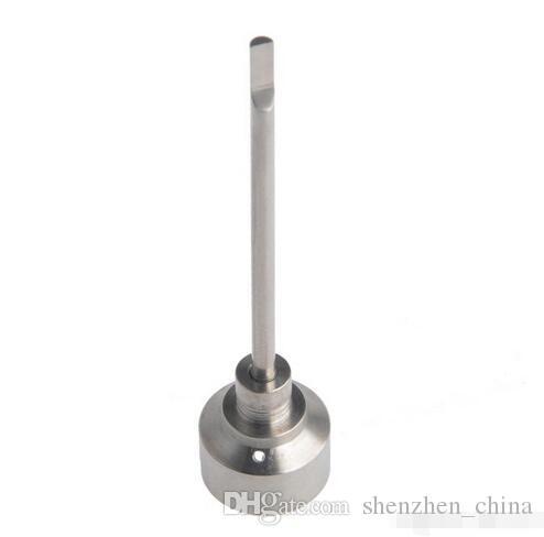 Más barato 14 mm y 18 mm de titanio Carb Cap Titanium Nail Domeless Titanium Nail Gr 2 uñas