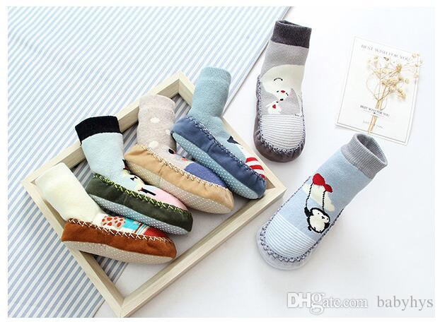 La nouvelle marque de coton antidérapante porte des chaussettes fille et garçon / good quality0-3T
