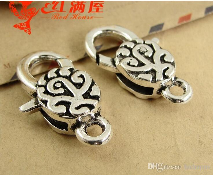 30*17MM Antique Bronze alloy China cheap lobster clasp for bracelet, vintage silver jewelry clasp for necklace, metal key ring holder hook