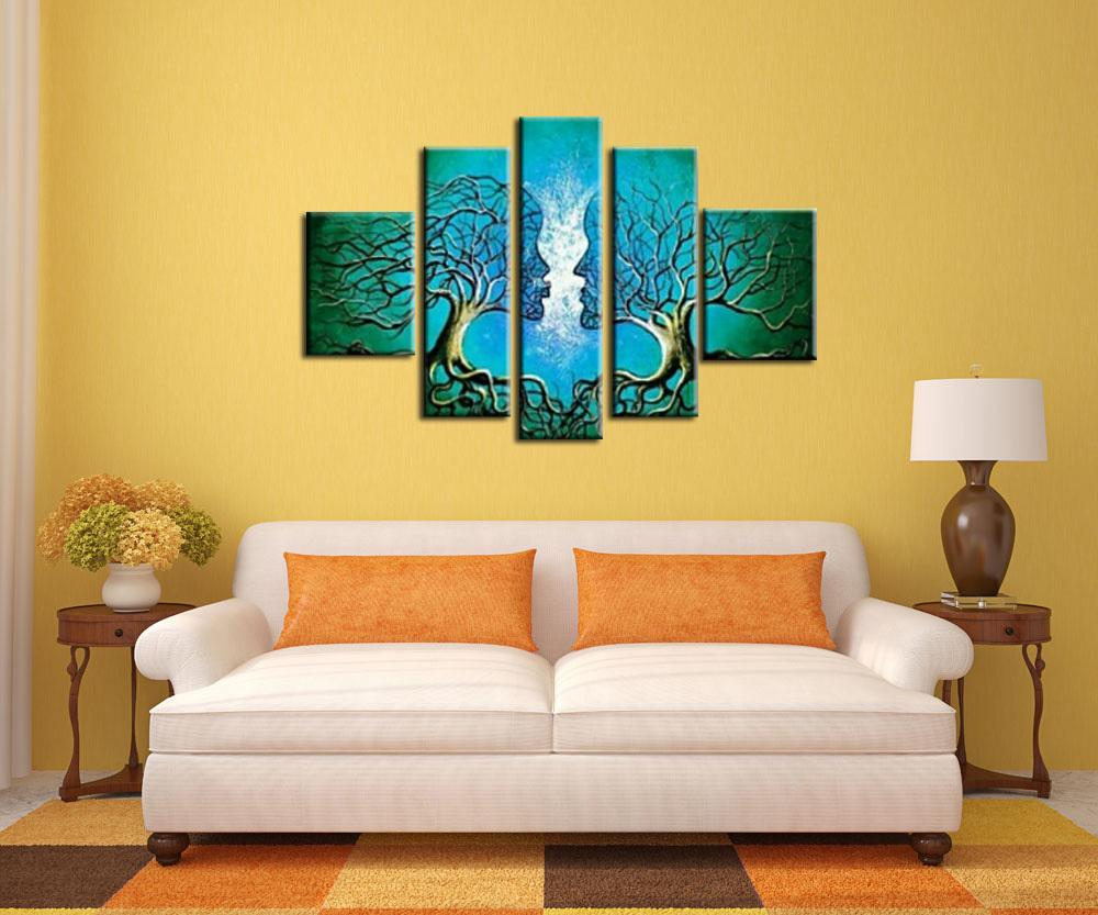 Wall Art Anime Oil Painting on Canvas Handmade Home Decor Modern ...