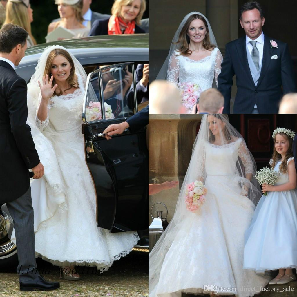 Discount stunning geri halliwell best celebrity wedding dresses high discount stunning geri halliwell best celebrity wedding dresses high quality lace formal bridal party gowns winter wedding dresses beach wedding dress from junglespirit Gallery