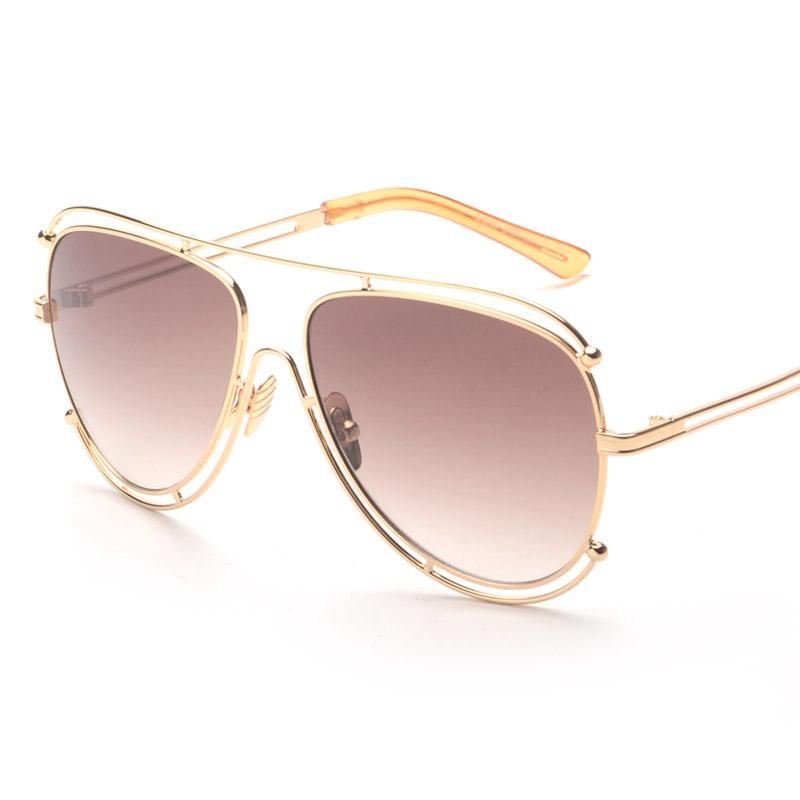 88c9d51edbec Wholesale 2016 Oversized Oval Designer Sunglasses Hollow Out Alloy Frame  Men Women Retro Shades Glasses Cool Eyewear Oculos De Sol 808 Native  Sunglasses ...