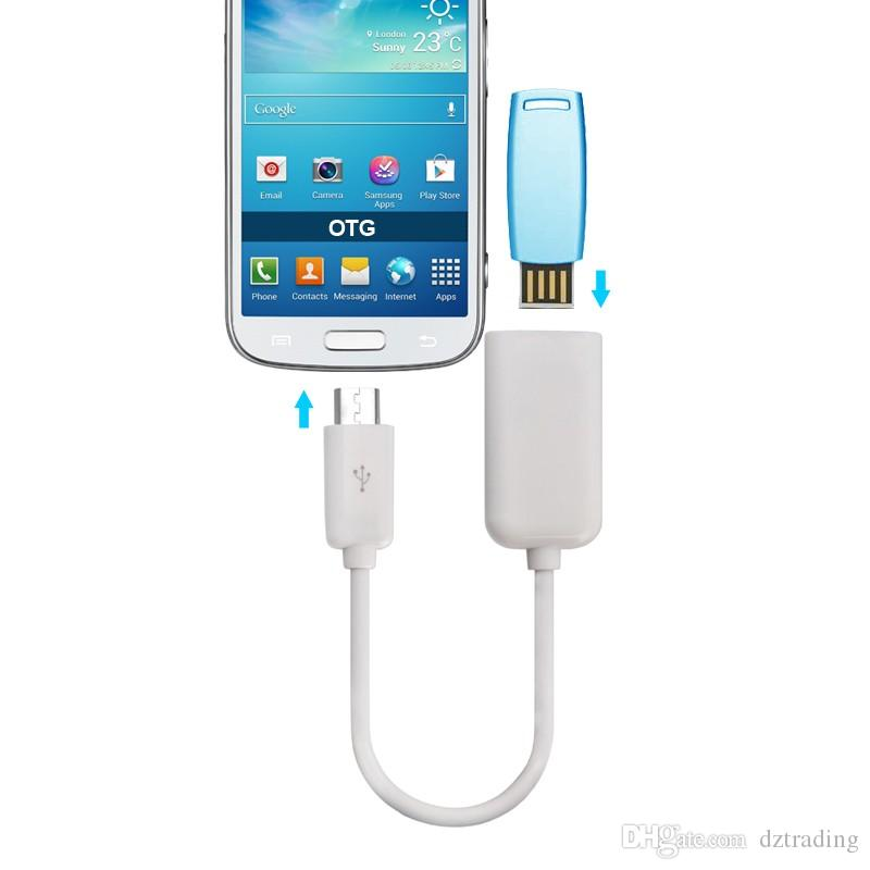 USB 2.0 Female To Micro USB Male Host OTG On-The-Go Cable Adapter Smooth Surface For Android Mobile Phone