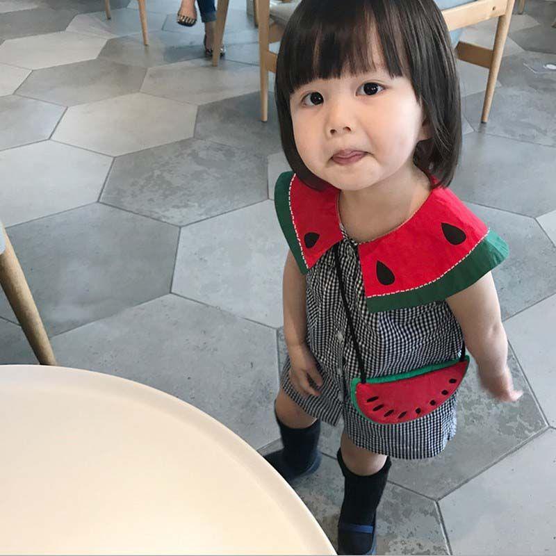 660b98648 2017 Baby Girls Dresses Cute Watermelon Plaid Cotton Toddler ...