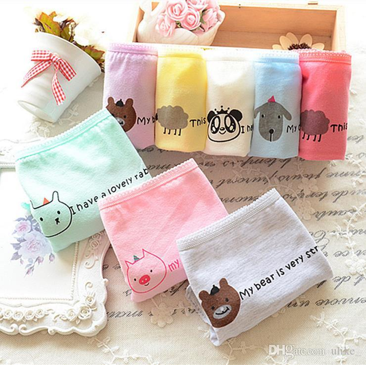 Underwear women panties thongs ladies cartoon briefs Cute Cotton low comfort package hip candy bragas color