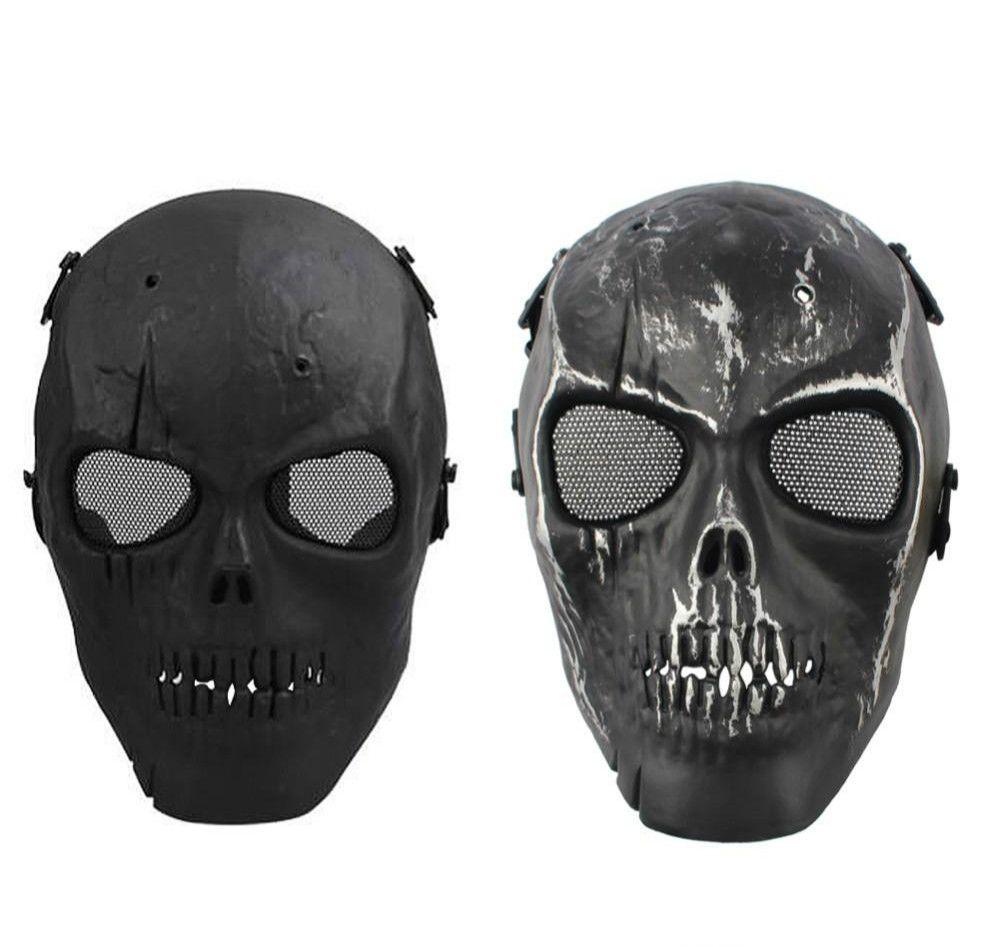MASH ARMY Full Face Mask Skull Skeleton Airsoft Paintball BB Gun Game Protect Maschera di sicurezza