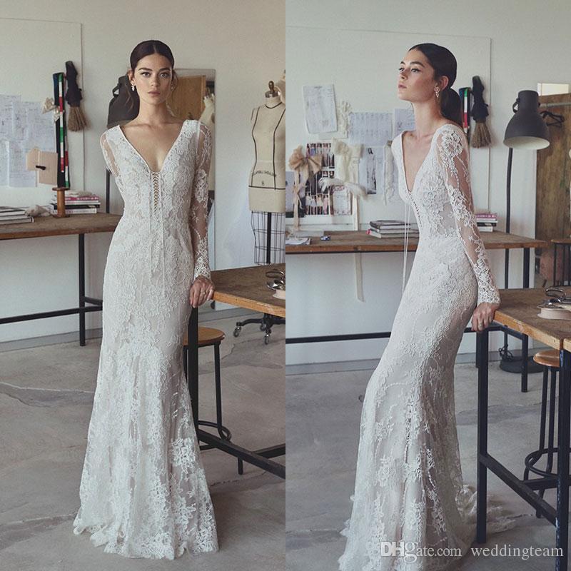 Lihi Hod Encaje Bohemio Con Compre Novia 2017 Vestidos De xdWCBroe