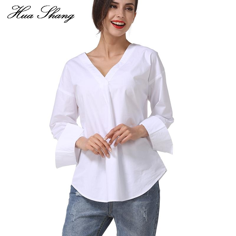 2019 Elegant String Cross Back Lace Up White Shirt Women Long Sleeve V Neck  Casual Blouse Loose Summer Tops Chemisier From Erindolly360b e097d915a