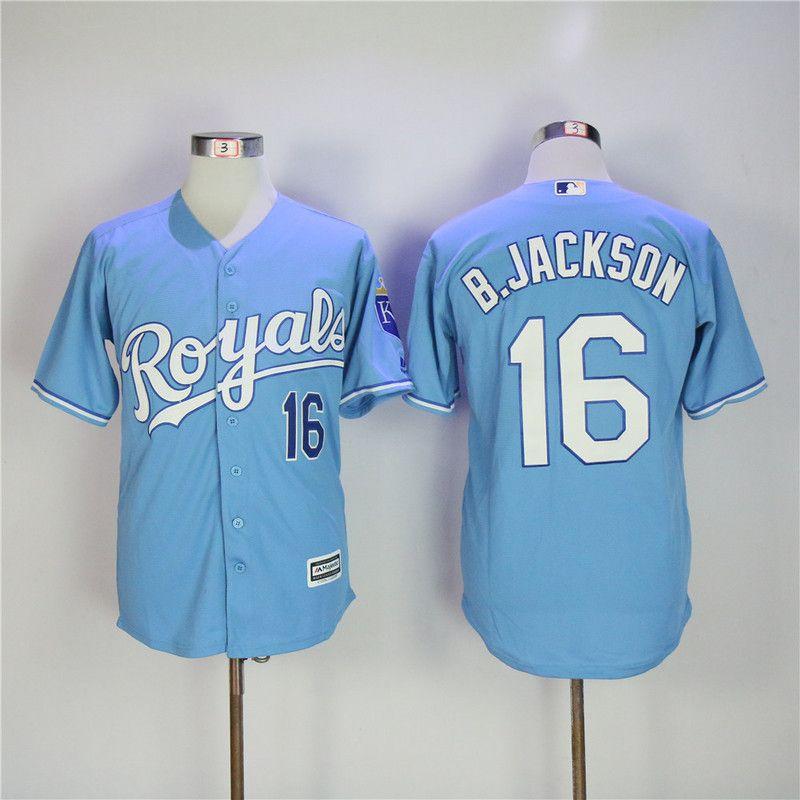 0fec216c7d1 ... Retro 1980 ... mlb jersey 2017 bo jackson jersey kansas city royals 16  majestic coolbase baseball ...