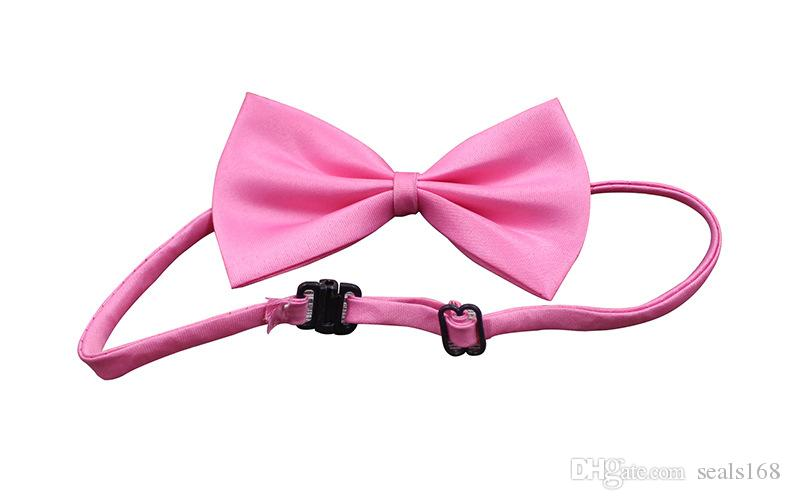 Ajustable Pet Dog Bow Tie Collar accesorio Collar Cachorro Color brillante Pet Bow Color de la mezcla HH7-302