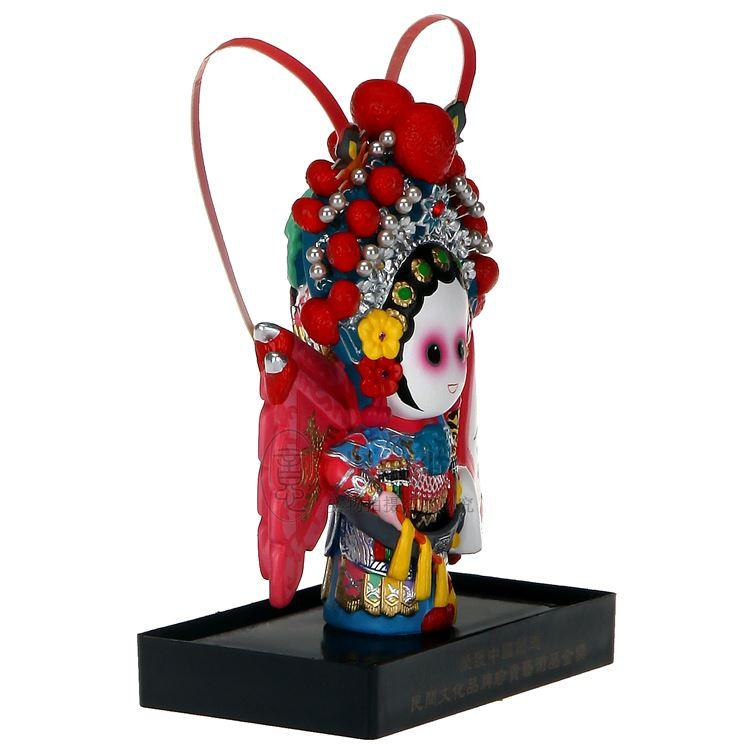 Vertical cartoon clay Mu Guiying Oriental Arts Q version of clay clay painted doll ornaments to send foreigners Jiapin