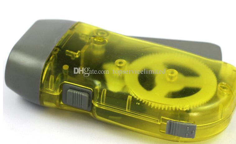 Новый переносной 3 LED Динамо ветер вверх фонарик Факел свет ручной пресс кривошипно NR кемпинг бесплатная быстрая доставка DHL