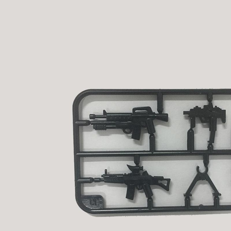 Military Weapon Building Blocks Mini Rifle Sniper Rifle Submachine Gun Set SWAT Police Weapons Toys For Chilren