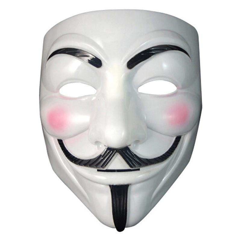 New Halloween mask costume party Cosplay Halloween Party Guy Fawkes V FOR Vendetta Anonymous Adult party Mask decorations Free