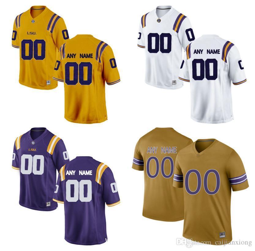 free shipping kids lsu tigers customized yellow jersey c50bb a6a50 c3d7f3bb8