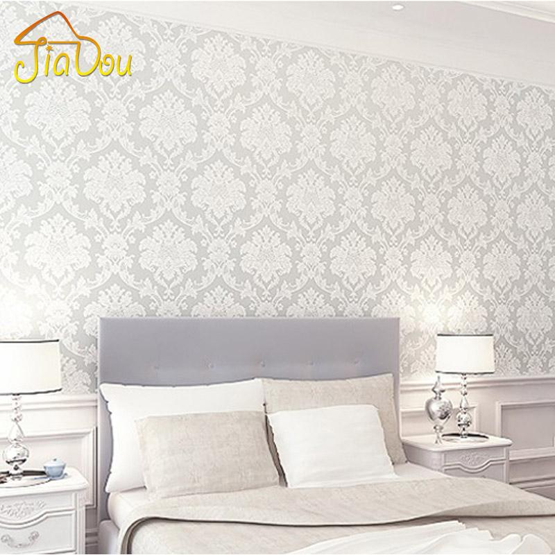 French White Pink 3D Floral Damask Vinyl Wallpaper Mural For Living Room Bedroom Wall Covering Papel De Parede Roll 05310M Animated Wallpapers Animation