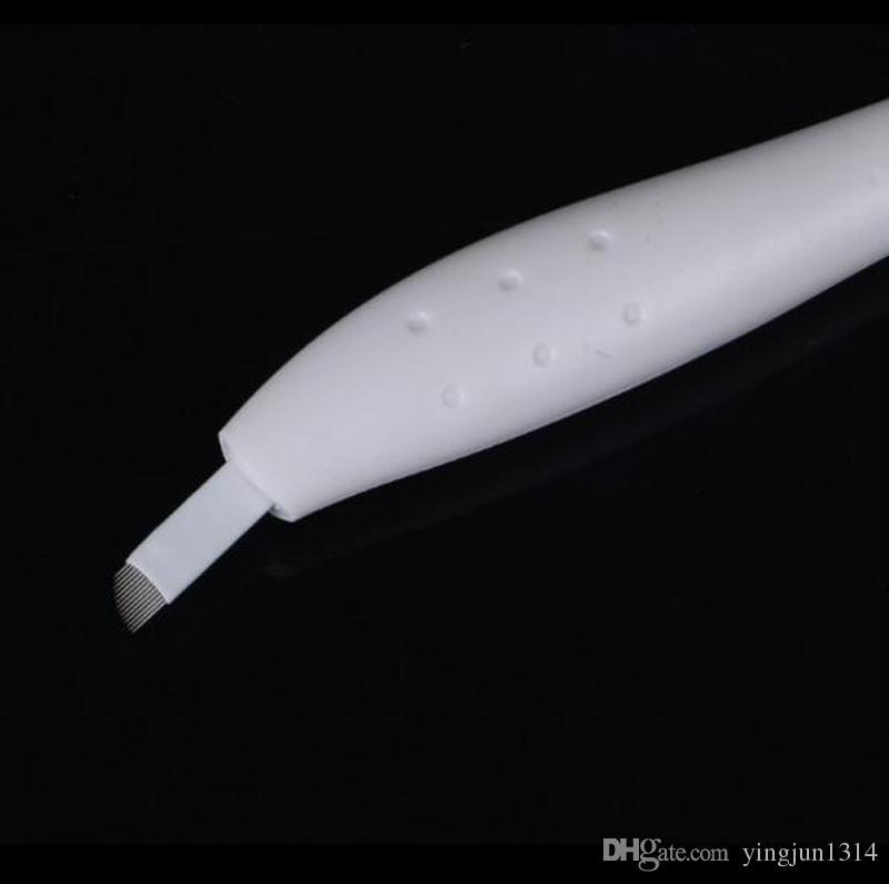 Toptan kaş microblading tek kullanımlık kalem ile 12/14/17 / 18U iğne Bıçak Manuel Mikroblade İğne Aracı