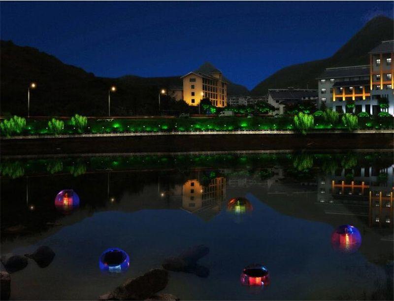 Güneş Enerjisi LED Renk Değiştirme Küre Gece Işığı Lambası Bahçe Dekor Su Geçirmez Yüzen Yüzme Havuzu Parti Dekoru