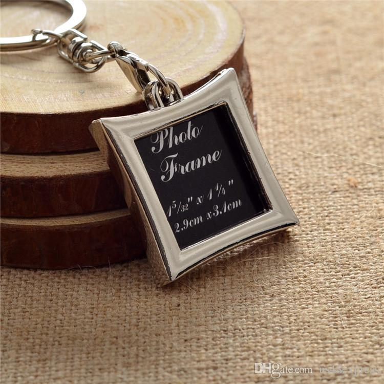 Wholesale Vogue Insert Photo Picture Frame Custom Keyring Key Ring Keychain Lover DIY Gift high quality
