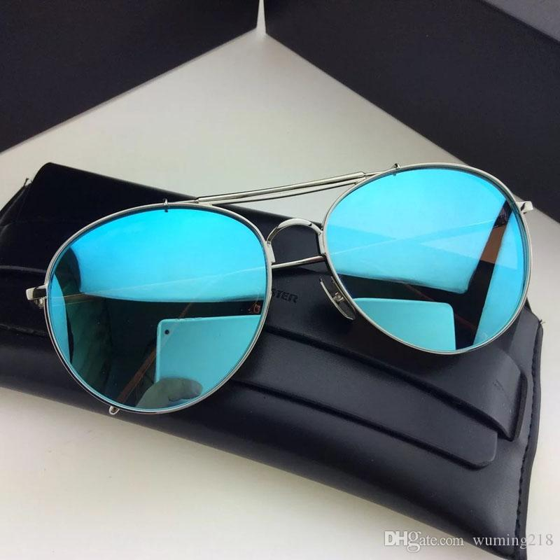 Nouvelle mode sselling lunettes de soleil big bully femmes designer lunettes de soleil revêtement miroir lentille pilote cadre top qualité été style