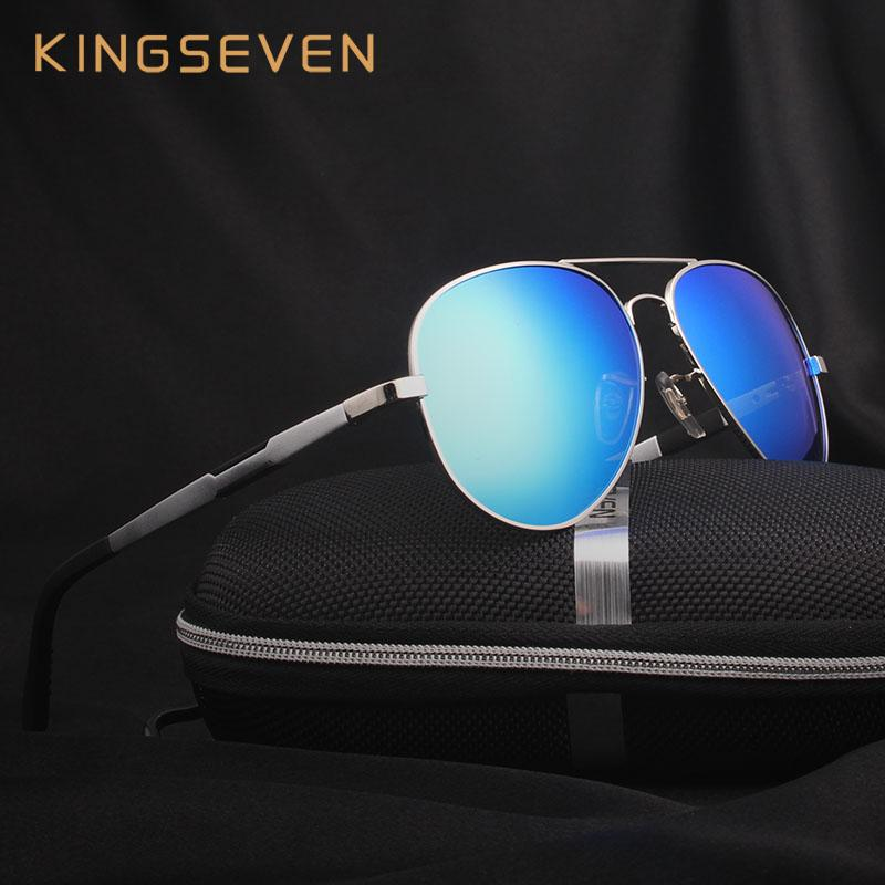 8d71935a4e9 Wholesale Kingseven Aluminum Magnesium Gold Fashion Polarized Lens  Sunglasses Men Women Driving Mirror Sun Glasses Points Male Oculos 7170  Cheap ...