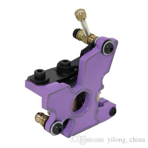 New Coil Tattoo Machine 10 Wraps Professional Three Color Steel Tattoo Gun Machine For Liner & Shader For