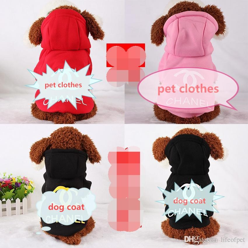 100% Cotton Pet Puppy Dog Clothes for Small Dog Coat Hoodie CC Sweatshirt Costumes Dogs Jackets XS-XXL 3 Colors