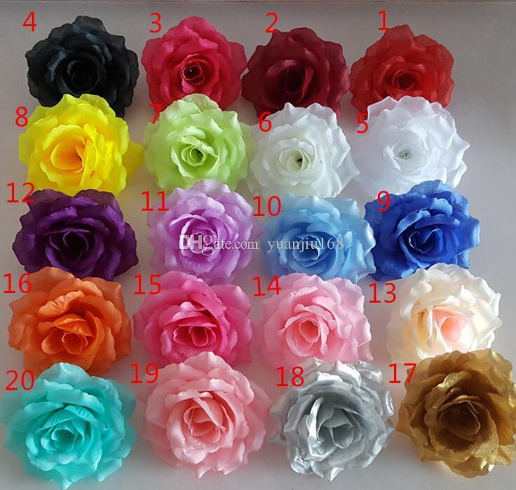 10cm Artificial fabric silk rose flower head diy decor vine wedding arch wall flower accessory G618