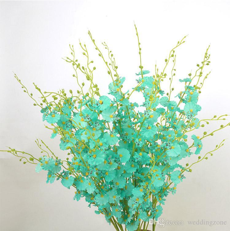 Artificial Flowers Oncidium hybridum 98CM/38.6inch Phalaenopsis for Party House Wedding Bouquet Decoration