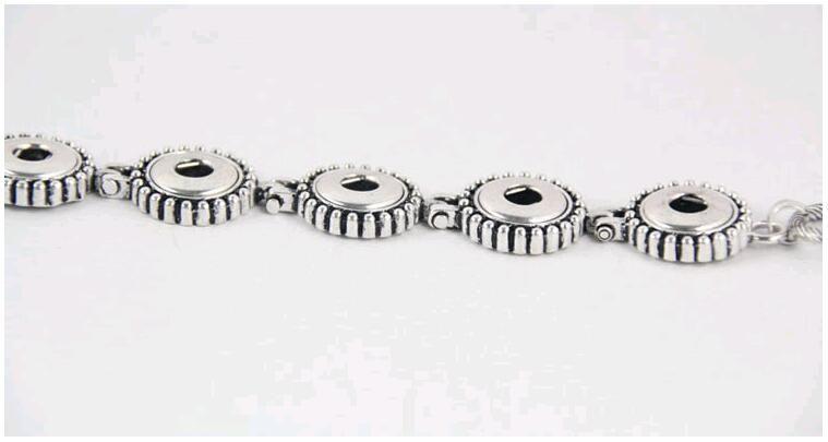 Новый античный посеребренные ювелирные изделия мода женщины Noosa куски 5 Оснастки тумблер застежки сплава браслет fit 12 мм DIY Оснастки кнопка