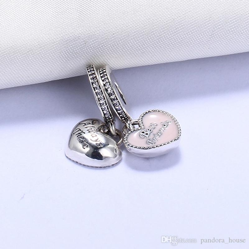 e3b183e1d Fit Pandora Bracelets Charms Beads Best Friend Always There CZ 100%  Authentic Sterling Silver Charms Beads For Jewelry Making DIY Gift Canada  2019 From ...