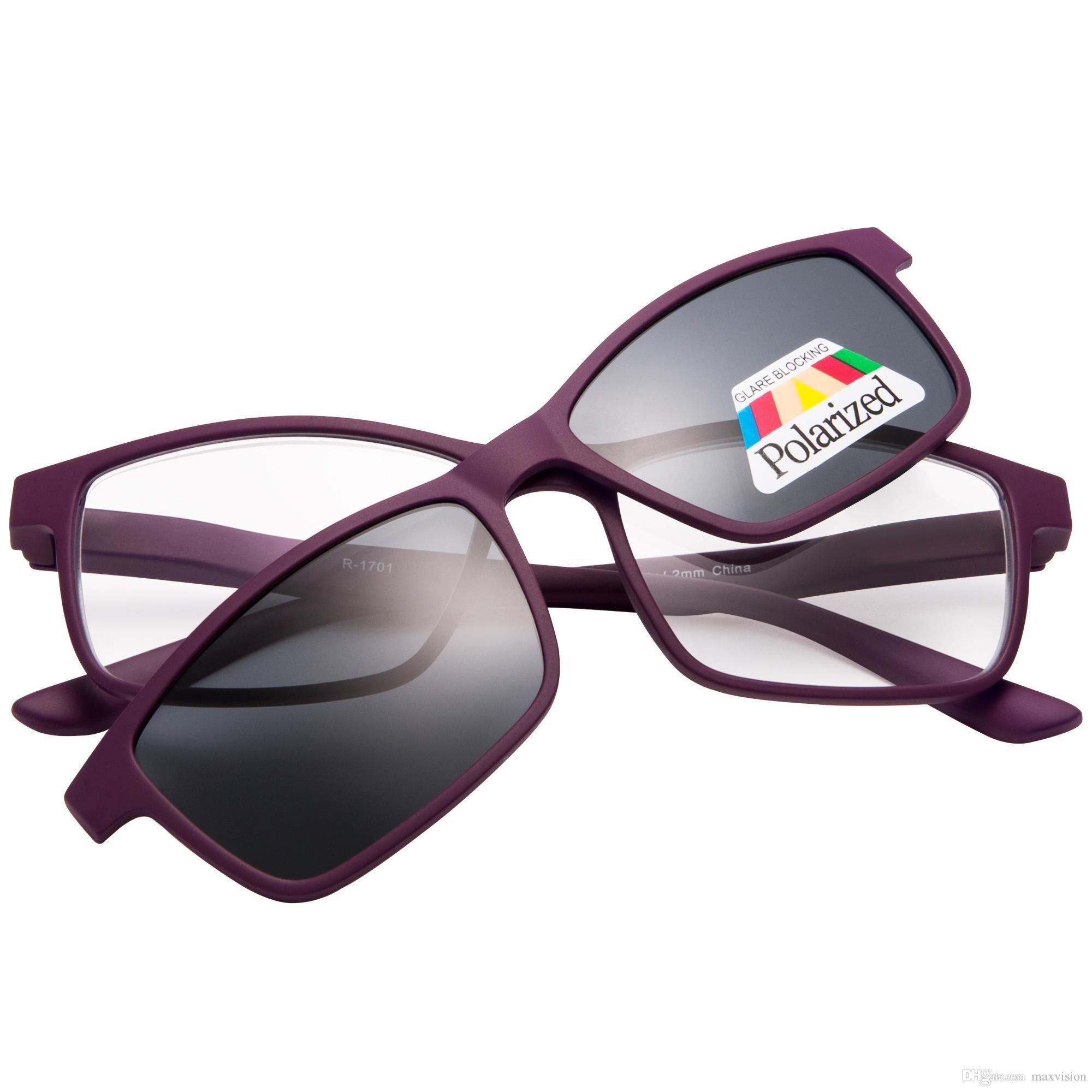 59c3ca0b5 Compre Clipe Magnético Em Óculos De Sol Leitores De Sol Mulheres Homens  Unisex Óculos De Leitura Roxo De Maxvision, $14.73 | Pt.Dhgate.Com