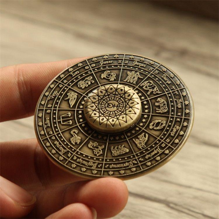 Egyptian Zodiac Ufo Fidget Spinner Zinc Alloy Flying