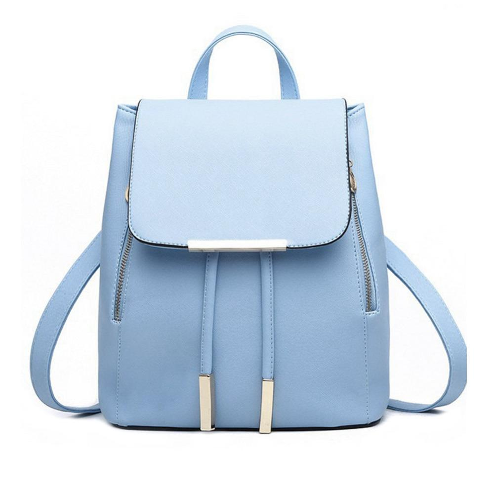 Wholesale Fashion Women Backpack Teenage Girls PU Leather School Bag  Backpacks Ladies Travel Bag High Quality Luxury Brand Female BackPack  School Backpacks ... 986fd1204b4d2